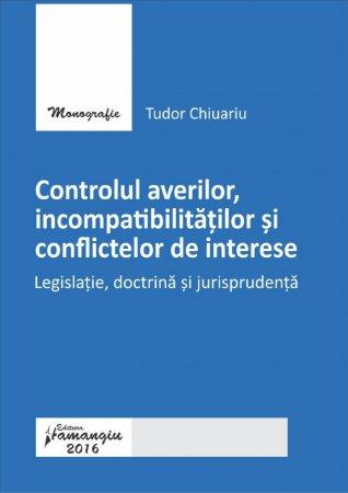 Imagine Controlul averilor, incompatibilitatilor si conflictelor de interese
