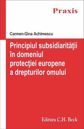 Imagine Principiul subsidiaritatii in domeniul protectiei europene a drepturilor omului