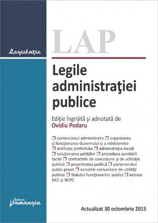 Imagine Legile administratiei publice. Actualizat 30 octombrie 2015