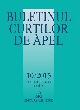 Imagine Buletinul Curtilor de Apel, Nr. 10/2015