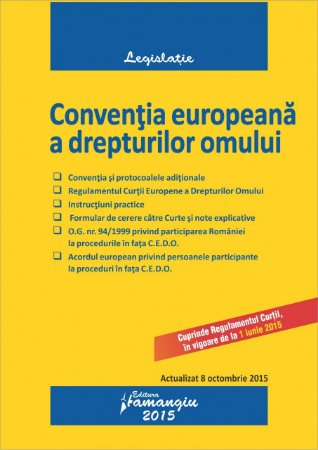 Imagine Conventia europeana a drepturilor omului 08.10.2015