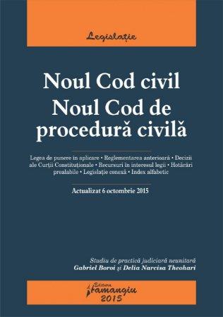 Imagine Noul Cod civil. Noul Cod de procedura civila 06.10.2015