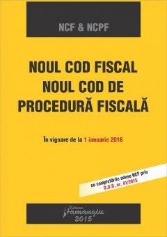 Imagine Noul Cod fiscal si noul Cod de procedura fiscala in vigoare de la 01.01.2016