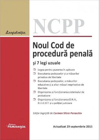 Imagine Noul Cod de procedura penala si 7 legi uzuale 29.09.2015