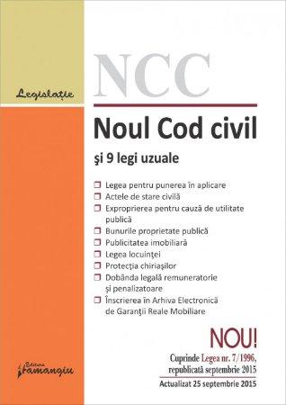 Imagine Noul Cod civil si 9 legi uzuale 25.09.2015