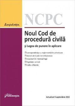 Imagine Noul Cod de procedura civila si Legea de punere in aplicare 09.09.2015