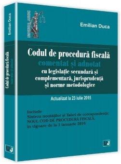Imagine Codul de procedura fiscala. Actualizat 23 iulie 2015