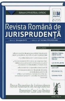 Imagine Revista romana de jurisprudenta nr. 2/2015