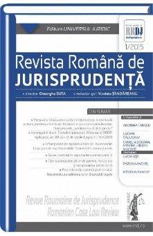 Imagine Revista romana de jurisprudenta nr. 1/2015
