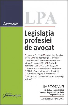 Imagine Legislatia profesiei de avocat 25.06.2015
