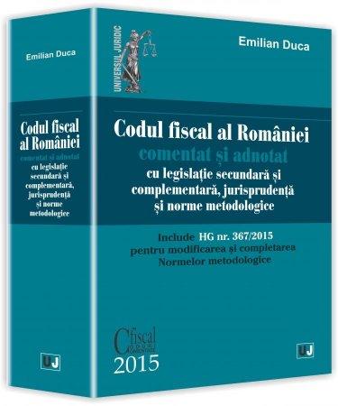 Imagine Codul fiscal al Romaniei comentat si adnotat 2015