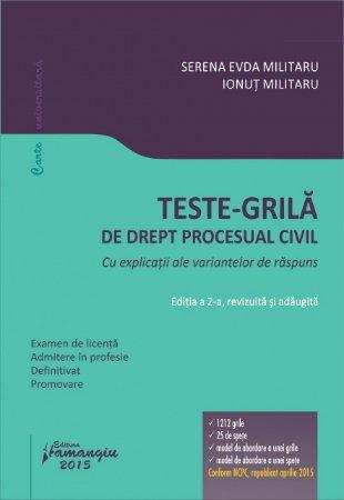 Imagine Teste-grila de drept procesual civil. Editia a 2-a