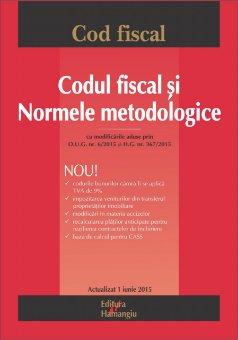 Imagine Codul fiscal si Normele metodologice ed.8 - 01.06.2015