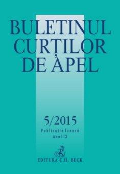 Imagine Buletinul Curtilor de Apel, Nr. 5/2015