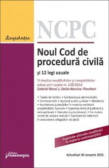 Imagine Noul Cod de procedura civila si 12 legi uzuale 30.01.2015