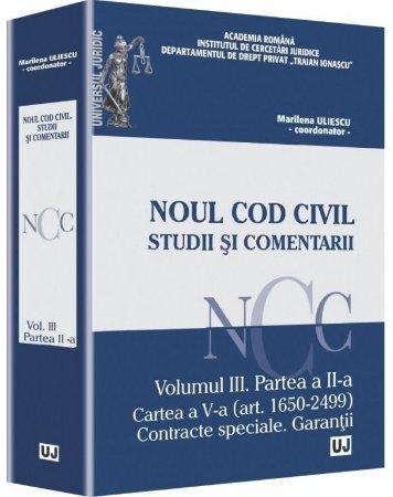 Imagine Noul Cod Civil. Studii si comentarii - Volumul III. Partea a II-a