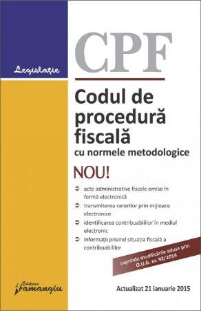 Imagine Codul de procedura fiscala cu normele metodologice 21.01.2015