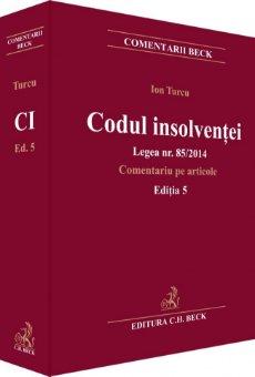 Imagine Codul insolventei. Legea nr. 85/2014. Comentariu pe articole. Editia 5