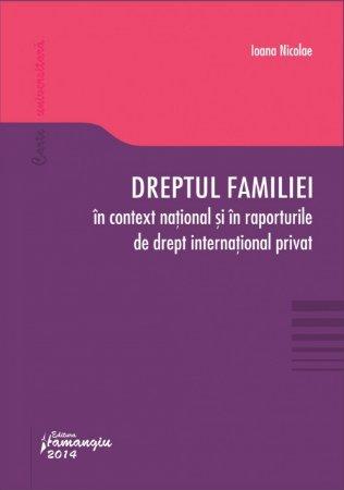 Imagine Dreptul familiei in context national si in raporturile de drept international privat