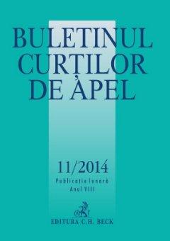Imagine Buletinul Curtilor de Apel, Nr. 11/2014