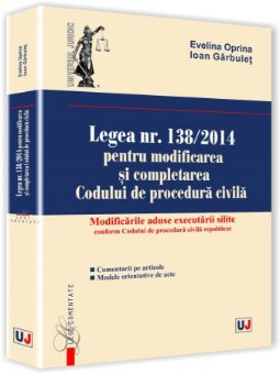 Imagine Legea nr. 138/2014 pentru modificarea si completarea Codului de procedura civila