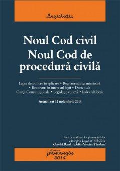 Imagine Noul Cod civil. Noul Cod de procedura civila. Actualizat 12 noiembrie 2014