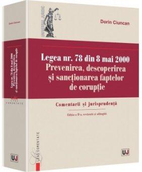 Imagine Legea nr. 78 din 8 mai 2000. Prevenirea, descoperirea si sanctionarea faptelor de coruptie
