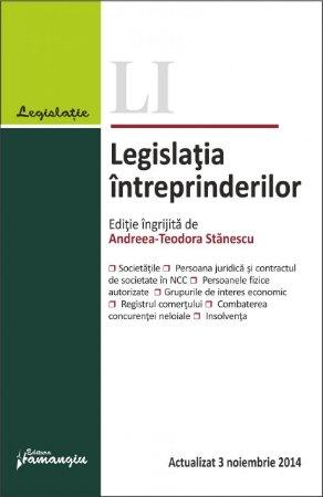 Imagine Legislatia intreprinderilor 3.11.2014