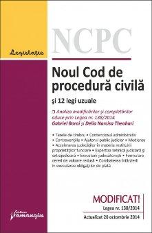 Imagine Noul Cod de procedura civila si 12 legi uzuale 20.10.2014