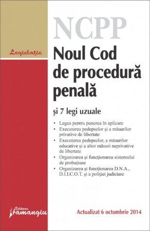Imagine Noul Cod de procedura penala si 7 legi uzuale 6.10.2014