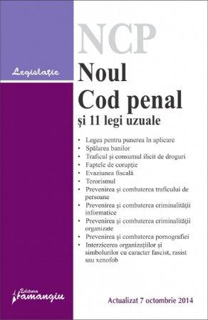 Imagine Noul Cod penal si 11 legi uzuale  7.10.2014