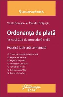 Imagine Ordonanta de plata in noul cod de procedura civila. Practica judiciara comentata