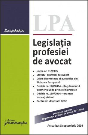 Imagine Legislatia profesiei de avocat 8.09.2014