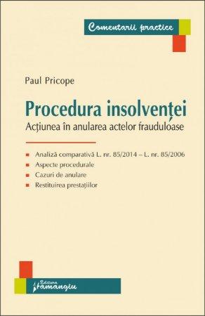 Imagine Procedura insolventei. Actiunea in anularea actelor frauduloase