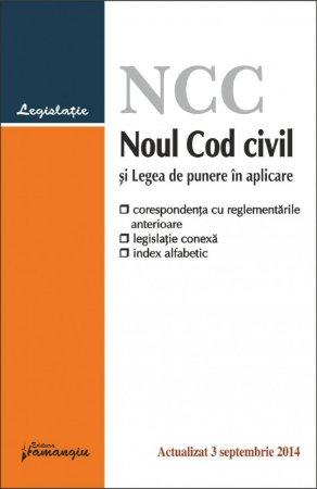 Imagine Noul Cod civil si Legea de punere in aplicare 3.09.2014