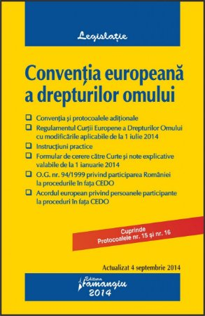 Imagine Conventia europeana a drepturilor omului 4.09.2014