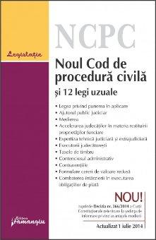 Imagine Noul Cod de procedura civila si 12 legi uzuale. Actualizat 1 iulie 2014