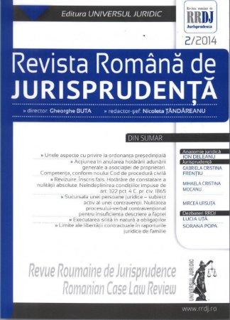 Imagine Revista romana de jurisprudenta nr. 2/2014