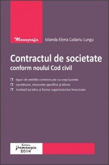 Imagine Contractul de societate conform noului Cod civil