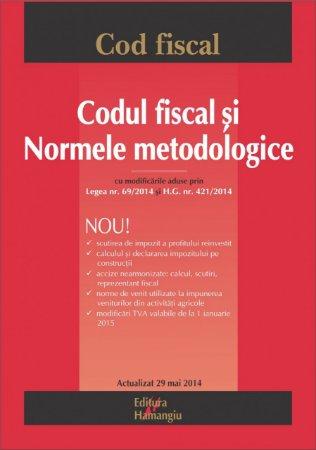 Imagine Codul fiscal si Normele metodologice 29.05.2014