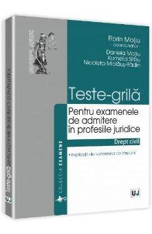 Imagine Teste-grila pentru examenele de admitere in profesiile juridice