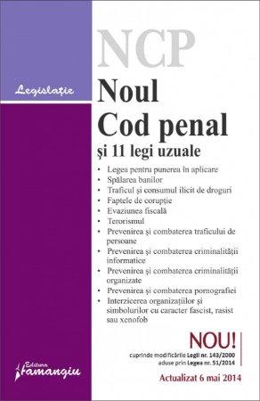 Imagine Noul Cod penal si 11 legi uzuale 6.05.2014