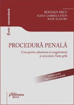 Imagine Procedura penala. Curs pentru admiterea in magistratura si avocatura. Teste grila