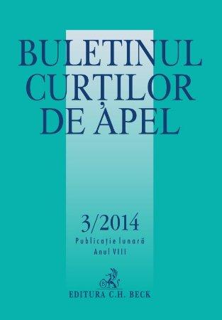 Imagine Buletinul Curtilor de Apel, Nr. 3/2014