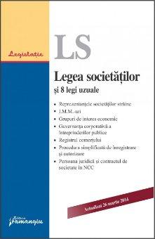 Imagine Legea societatilor si 8 legi uzuale. Actualizat 26 martie 2014