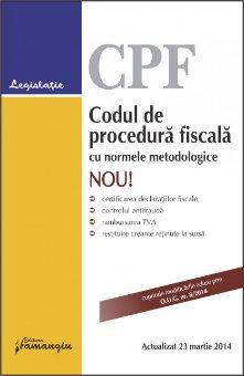 Imagine Codul de procedura fiscala cu normele metodologice 23.03.2014