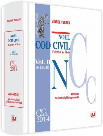 Imagine Noul Cod civil - Volumul II. ( Art. 1164-2664). Adnotat cu doctrina si jurisprudenta