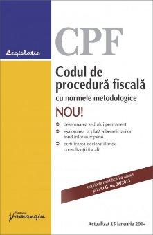 Imagine Codul de procedura fiscala cu normele metodologice 15.01.2014