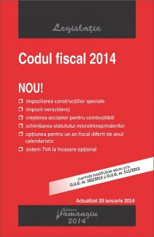 Imagine (Vechi) Codul fiscal 20.01.2014