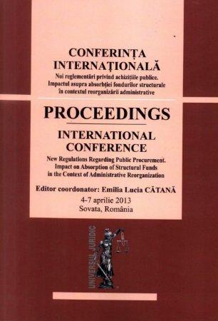 Imagine Conferinta internationala. Noi reglementari privind achizitiile publice